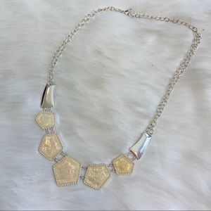 Opal Silver Statement Necklace